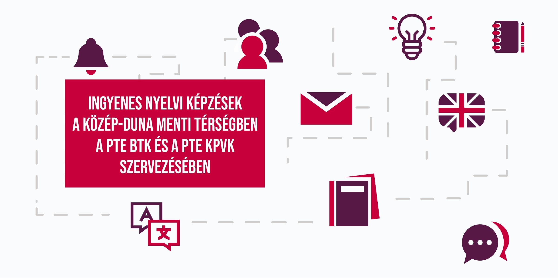 Ingyenes nyelvi képzések a Közép-Duna Menti Térségben a PTE BTK és a PTE KPVK szervezésében